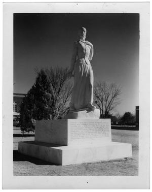 Primary view of object titled 'Texas Woman's University Pioneer Woman statue, 1937'.