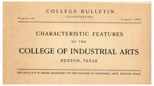College Bulletin, Number 19, August, 1907