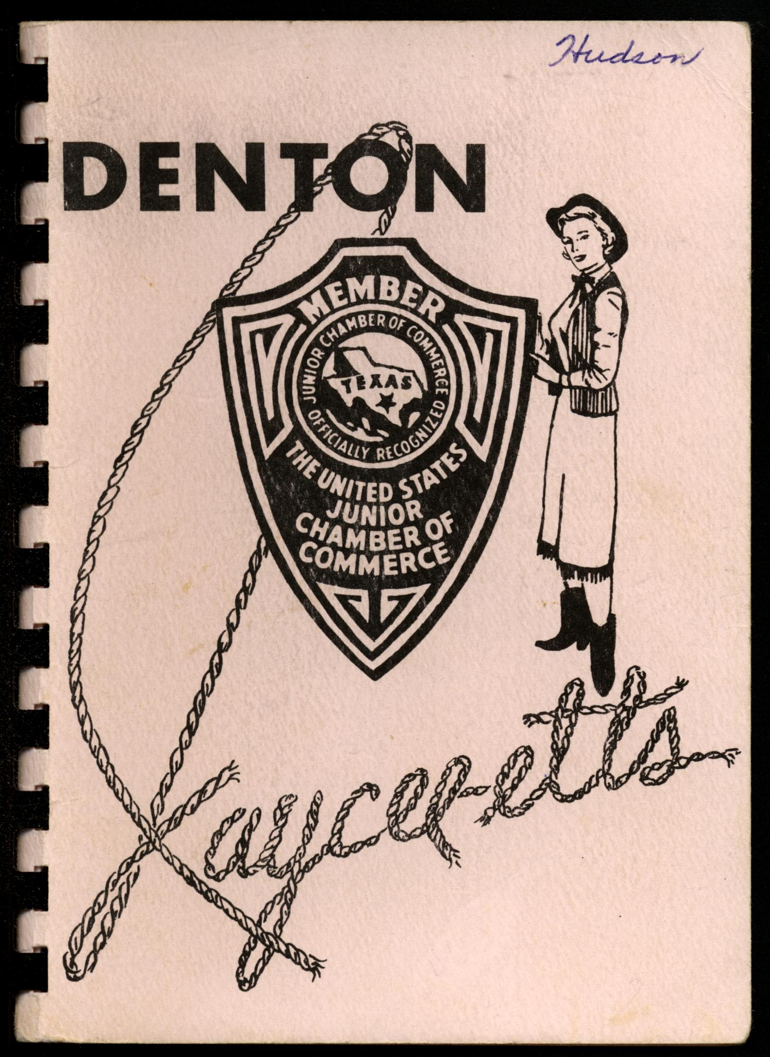 Denton Jaycee-ettes, 1956-1957, Yearbook                                                                                                      Front Cover