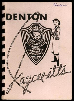 Primary view of object titled 'Denton Jaycee-ettes, 1956-1957, Yearbook'.