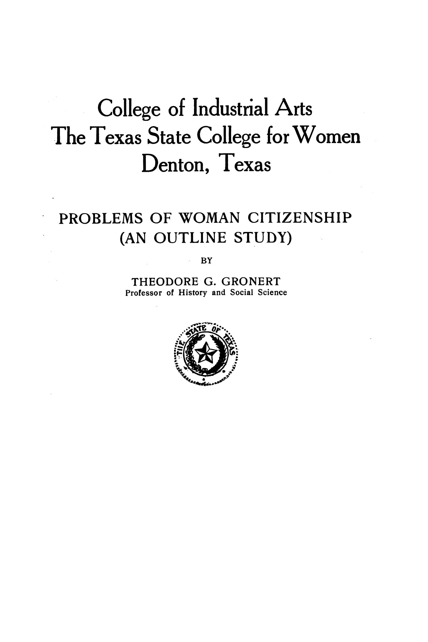 College Bulletin, Number 95, November 1, 1921                                                                                                      Front Cover