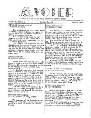 Primary view of object titled 'The Denton Voter Newsletter, Volume 02, Number 04, October 8, 1962'.