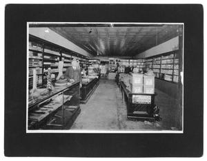Primary view of object titled '[Interior of Frank Ellis and Son]'.