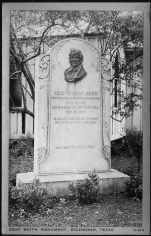 Primary view of object titled '[Deaf Smith Monument in Richmond, Texas]'.