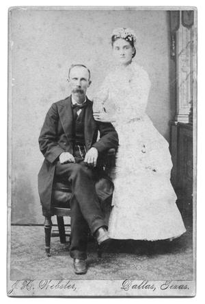 Primary view of object titled 'Dr. and Mrs. William Cullom Wedding Photograph'.
