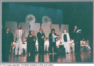 Primary view of object titled '[Christmas/Kwanzaa Concert Photograph UNTA_AR0797-136-08-21]'.