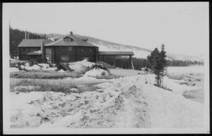 "Primary view of object titled '[Postcard image of ""Echo Lake Lodge Colo. In Spring, Alt. 10,628 Ft.]'."