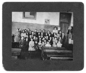Primary view of object titled 'Mrs. Ed Vanston and Students'.