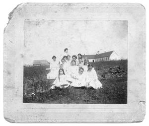 Primary view of object titled 'Young Girls and Bennett School'.