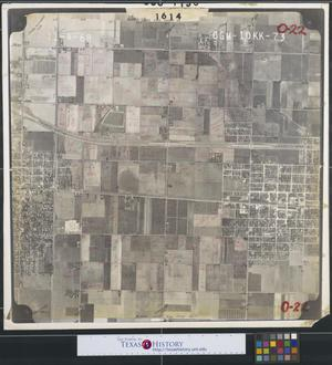 Primary view of object titled '[Aerial Photograph of Alamo and East San Juan]'.