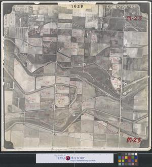 Primary view of object titled '[Aerial Photograph of Southeast McAllen and South Pharr]'.
