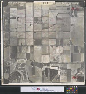 Primary view of object titled '[Aerial Photograph of South Pharr along Military Highway]'.