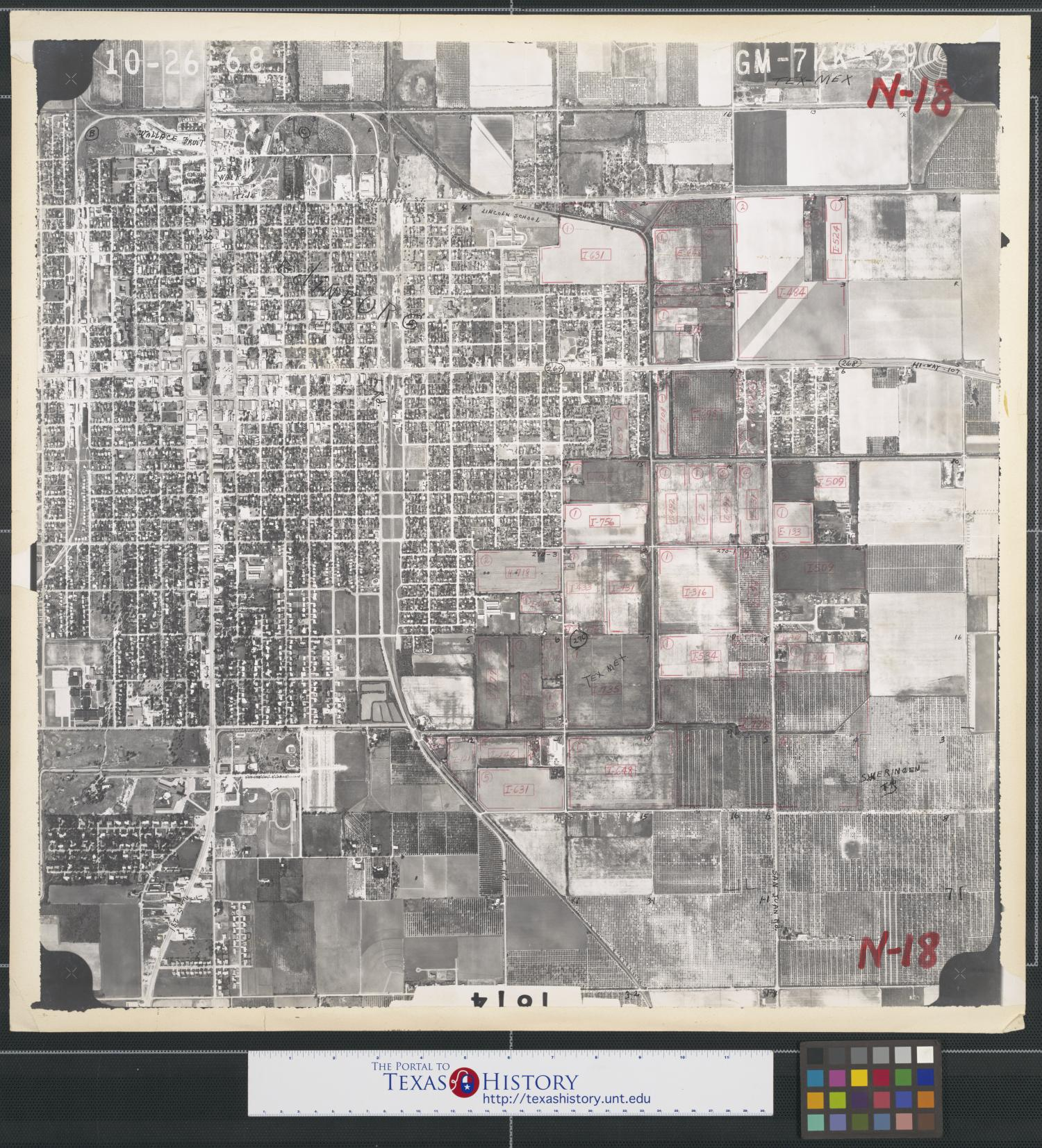 [Aerial Photograph of Downtown Edinburg]                                                                                                      [Sequence #]: 1 of 2