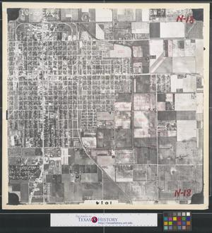 Primary view of object titled '[Aerial Photograph of Downtown Edinburg]'.