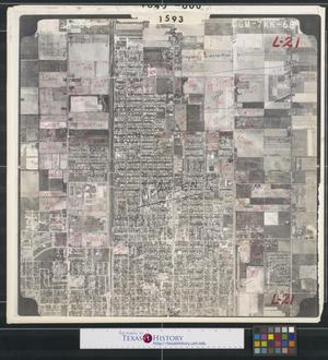 Primary view of object titled '[Aerial Photograph of Central McAllen between Ware and McColl Roads]'.