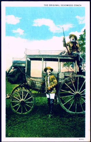 "[Postcard image of ""The Original Deadwood Coach""]                                                                                                      [Sequence #]: 1 of 1"