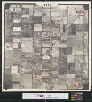 Primary view of object titled '[Aerial Photograph of North McAllen between Ware and McColl Roads]'.