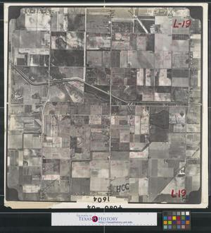 Primary view of object titled '[Aerial Photograph of South Edinburg between Depot and McColl Roads]'.