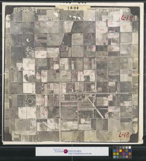 Primary view of object titled '[Aerial Photograph of Edinburg Airport and Highway 107]'.