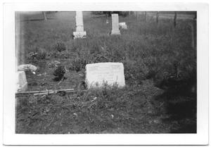 Primary view of object titled '[headstone]'.