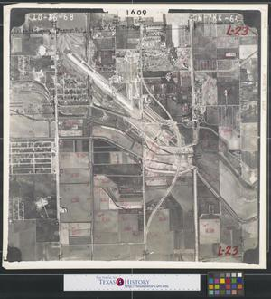Primary view of object titled '[Aerial Photograph of South McAllen and McAllen Airport]'.