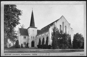 "Primary view of object titled '[""Baptist Church, Richmond, Texas""]'."