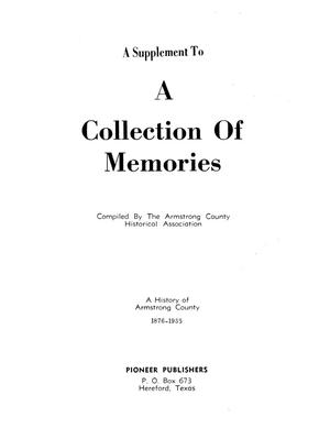 Primary view of object titled 'A Supplement To A Collection of Memories: A History of Armstrong County, 1876-1965'.