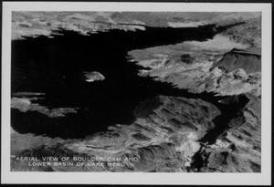 "Primary view of object titled '[An ""Aerial View of Boulder Dam"" and ""Lake Mead""]'."