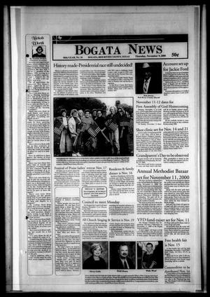 Primary view of object titled 'Bogata News (Bogata, Tex.), Vol. 90, No. 26, Ed. 1 Thursday, November 9, 2000'.