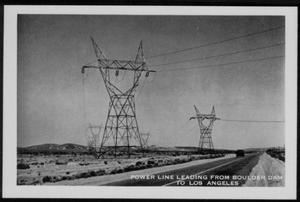 "Primary view of object titled '[""Power Line Leading From Boulder Dam To Los Angeles""]'."