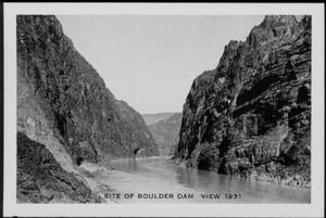 "Primary view of object titled '[""Site of Boulder Dam""]'."