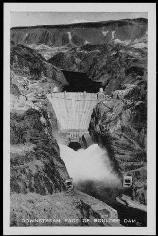"[""Downstream Face Of Boulder Dam""]                                                                                                      [Sequence #]: 1 of 1"
