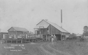Primary view of object titled '[First cotton gin (built in 1906)]'.