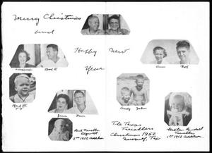 [Christmas card sent to Albert and Mamie George from the Treichler family]