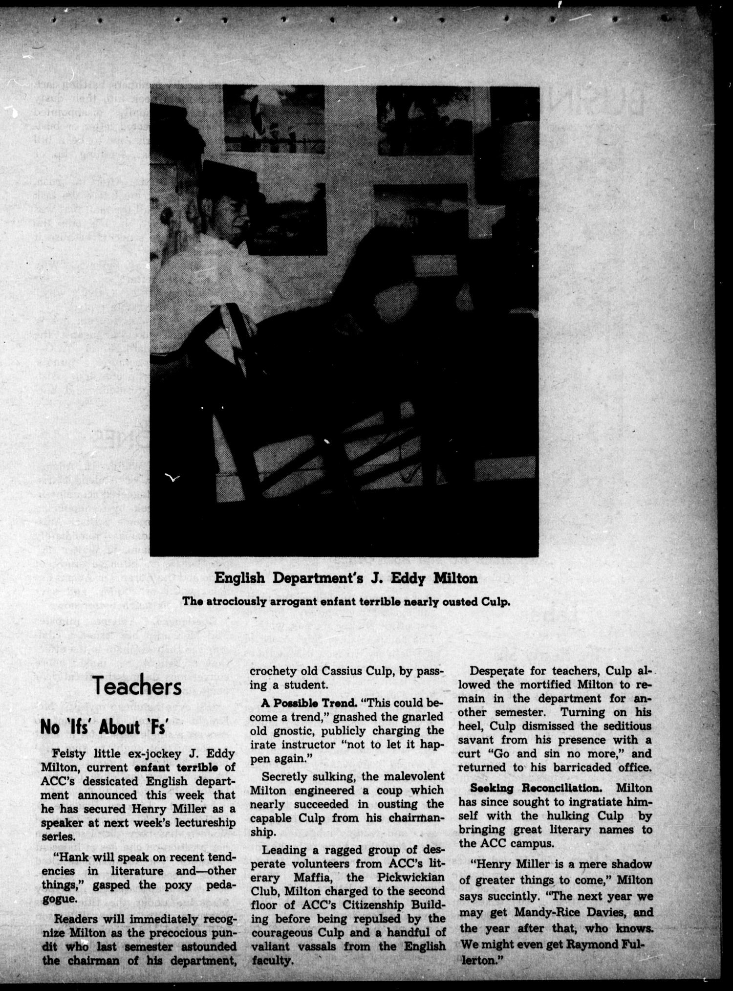 The Optimist (Abilene, Tex.), Ed. 1, Wednesday, April 1, 1964                                                                                                      [Sequence #]: 14 of 16