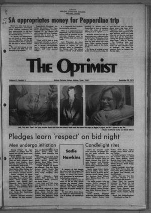 Primary view of object titled 'The Optimist (Abilene, Tex.), Vol. 61, No. 4, Ed. 1, Friday, September 28, 1973'.