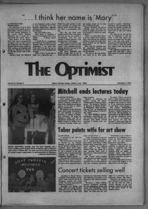 Primary view of object titled 'The Optimist (Abilene, Tex.), Vol. 61, No. 9, Ed. 1, Friday, November 2, 1973'.