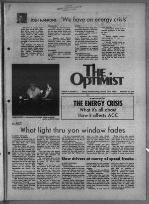 Primary view of object titled 'The Optimist (Abilene, Tex.), Vol. 61, No. 11, Ed. 1, Friday, November 16, 1973'.