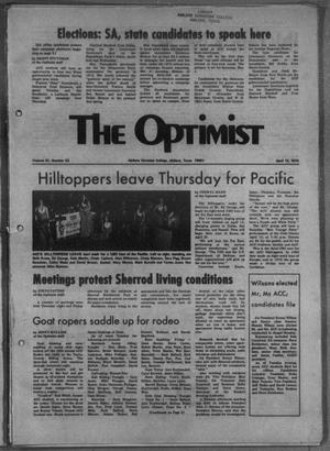 The Optimist (Abilene, Tex.), Vol. 61, No. 23, Ed. 1, Friday, April 12, 1974