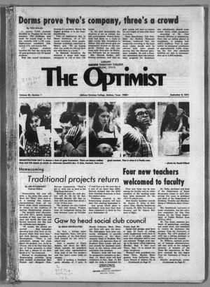Primary view of object titled 'The Optimist (Abilene, Tex.), Vol. 62, No. 1, Ed. 1, Friday, September 6, 1974'.