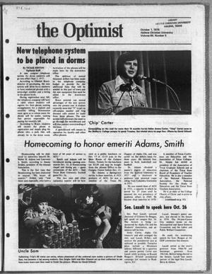 The Optimist (Abilene, Tex.), Vol. 64, No. 5, Ed. 1, Friday, October 1, 1976