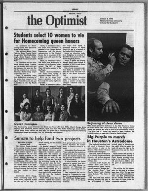 The Optimist (Abilene, Tex.), Vol. 64, No. 6, Ed. 1, Friday, October 8, 1976
