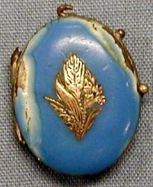 Locket in blue ceramic finish