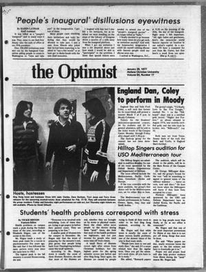 Primary view of object titled 'The Optimist (Abilene, Tex.), Vol. 64, No. 17, Ed. 1, Friday, January 28, 1977'.