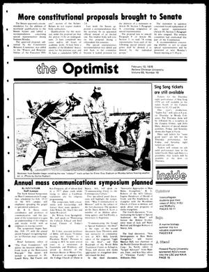 Primary view of object titled 'The Optimist (Abilene, Tex.), Vol. 65, No. 19, Ed. 1, Friday, February 10, 1978'.