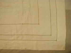 Primary view of object titled '[Table cloth with hemstitch]'.