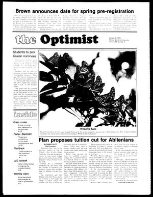 Primary view of object titled 'The Optimist (Abilene, Tex.), Vol. 66, No. 5, Ed. 1, Friday, October 6, 1978'.