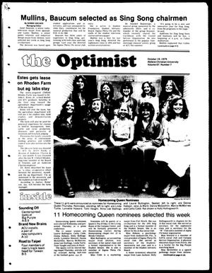 Primary view of object titled 'The Optimist (Abilene, Tex.), Vol. 67, No. 7, Ed. 1, Friday, October 19, 1979'.
