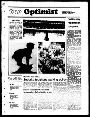 Primary view of object titled 'The Optimist (Abilene, Tex.), Vol. 67, No. 14, Ed. 1, Friday, December 14, 1979'.