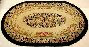 Primary view of object titled '[Oval shaped rug]'.